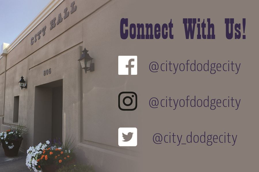 Connect with the City of Dodge City on Facebook, Instagram, and Twitter
