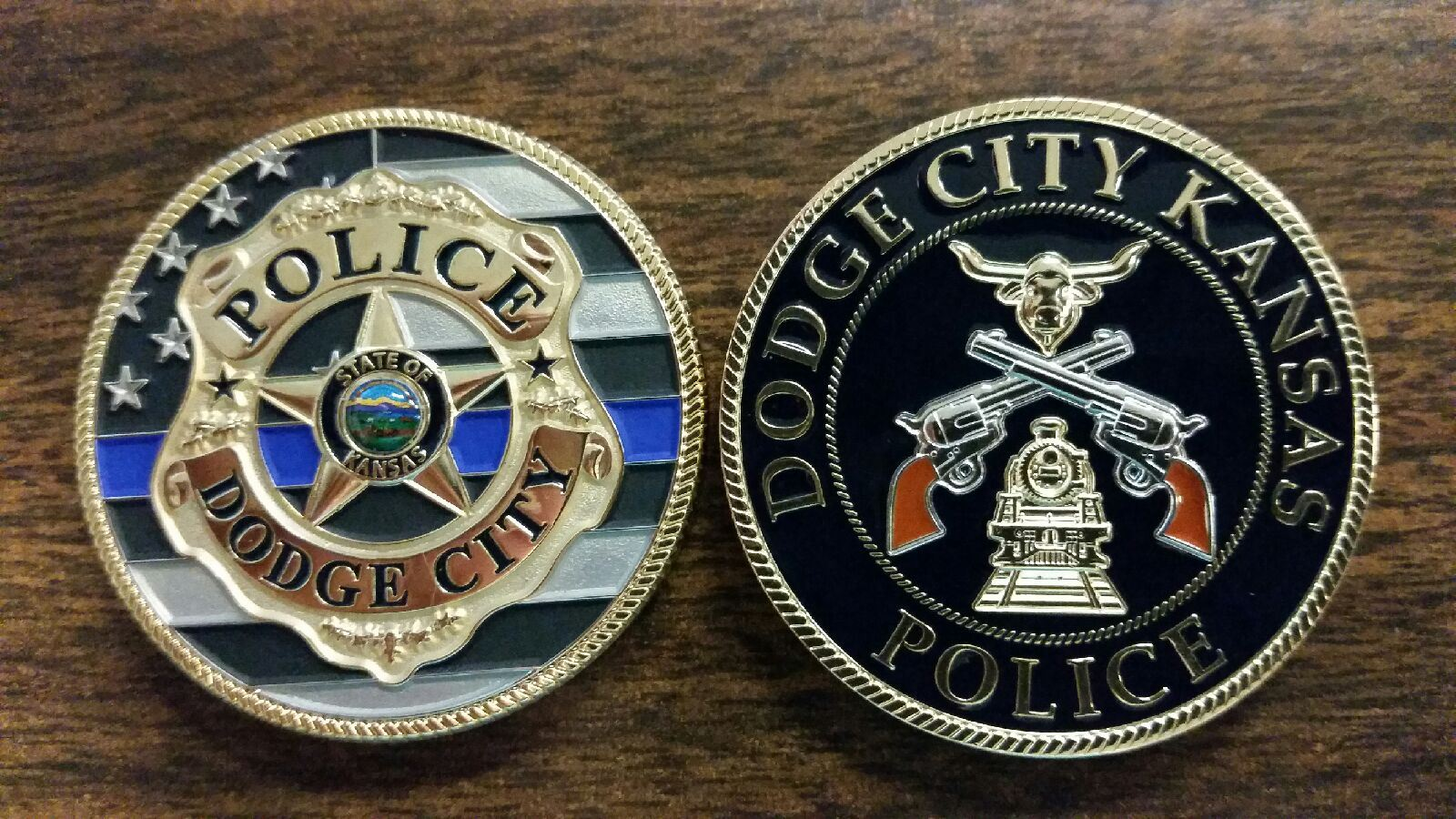 Dodge City Police Department Challenge Coin