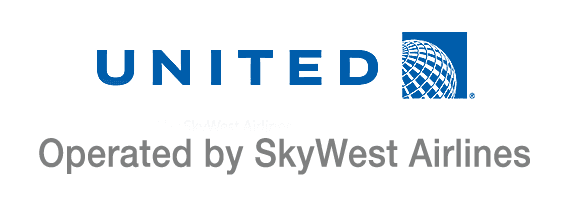 United Airlines operated by SkyWest logo