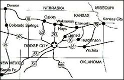 Map of Western Kansas